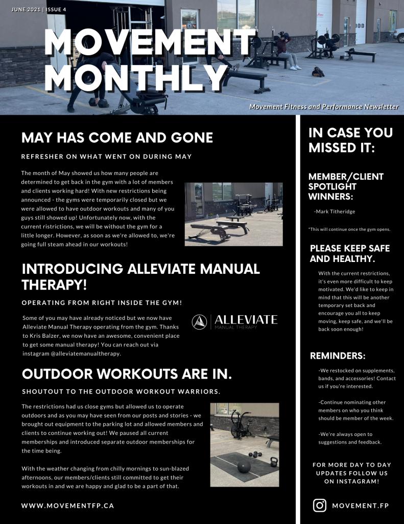 Movement Monthly Newsletter June 2021